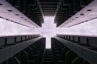 View of a block of HDB flats