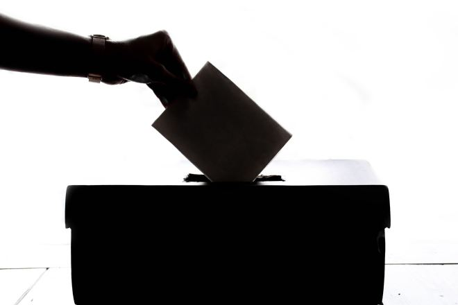 Voting at the ballot box