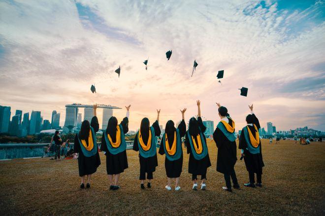 Graduation at Marina Barrage