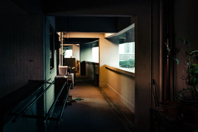 Hallway of a HDB flat in Singapore