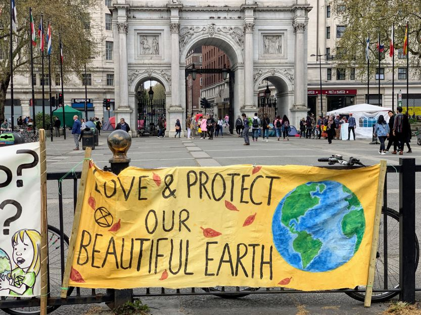 Climate protest in London, the United Kingdom