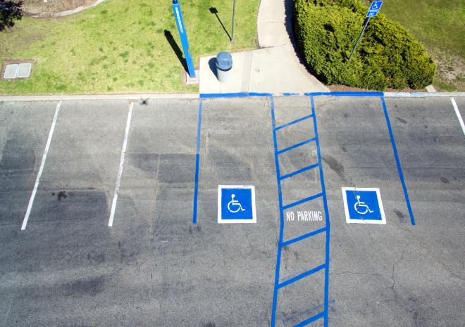 Disability parking spaces