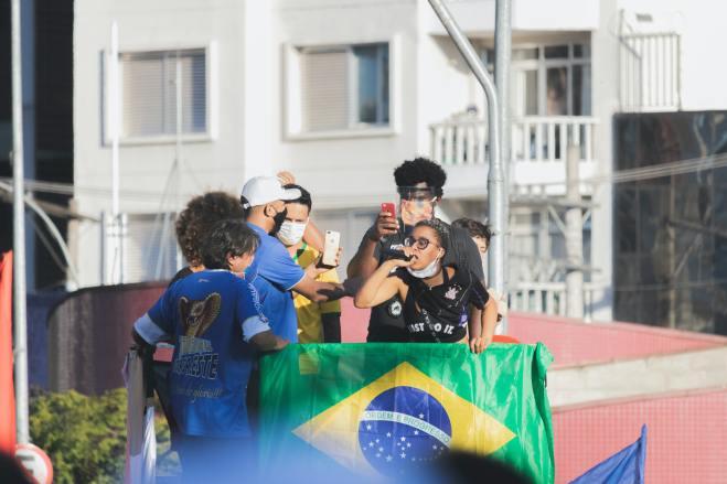 Protest against Brazil's President Jair Bolsonaro