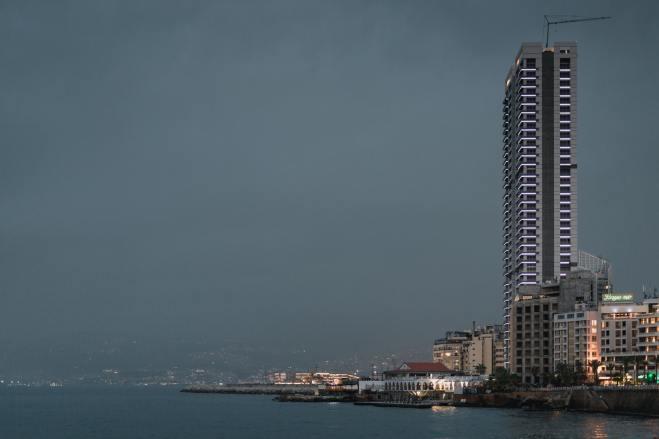 City skyline across Beirut, Lebanon