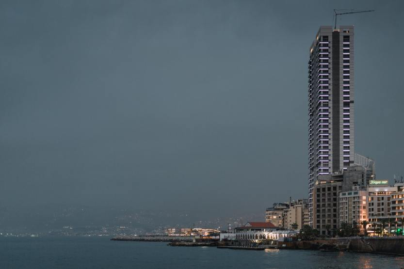 City skyline across Beirut, Lebanon