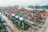 A cargo port in Singapore