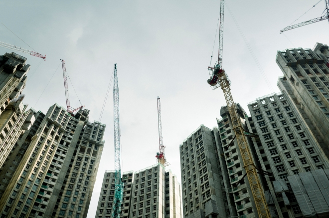 A construction site in Singapore