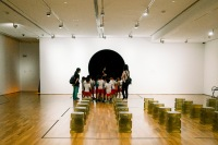 Group of preschoolers in an open exhibition space (Photo by Ng Shi Wen)