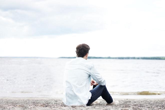Contemplation on a beach (Photo by Stefan Spassov on Unsplash)